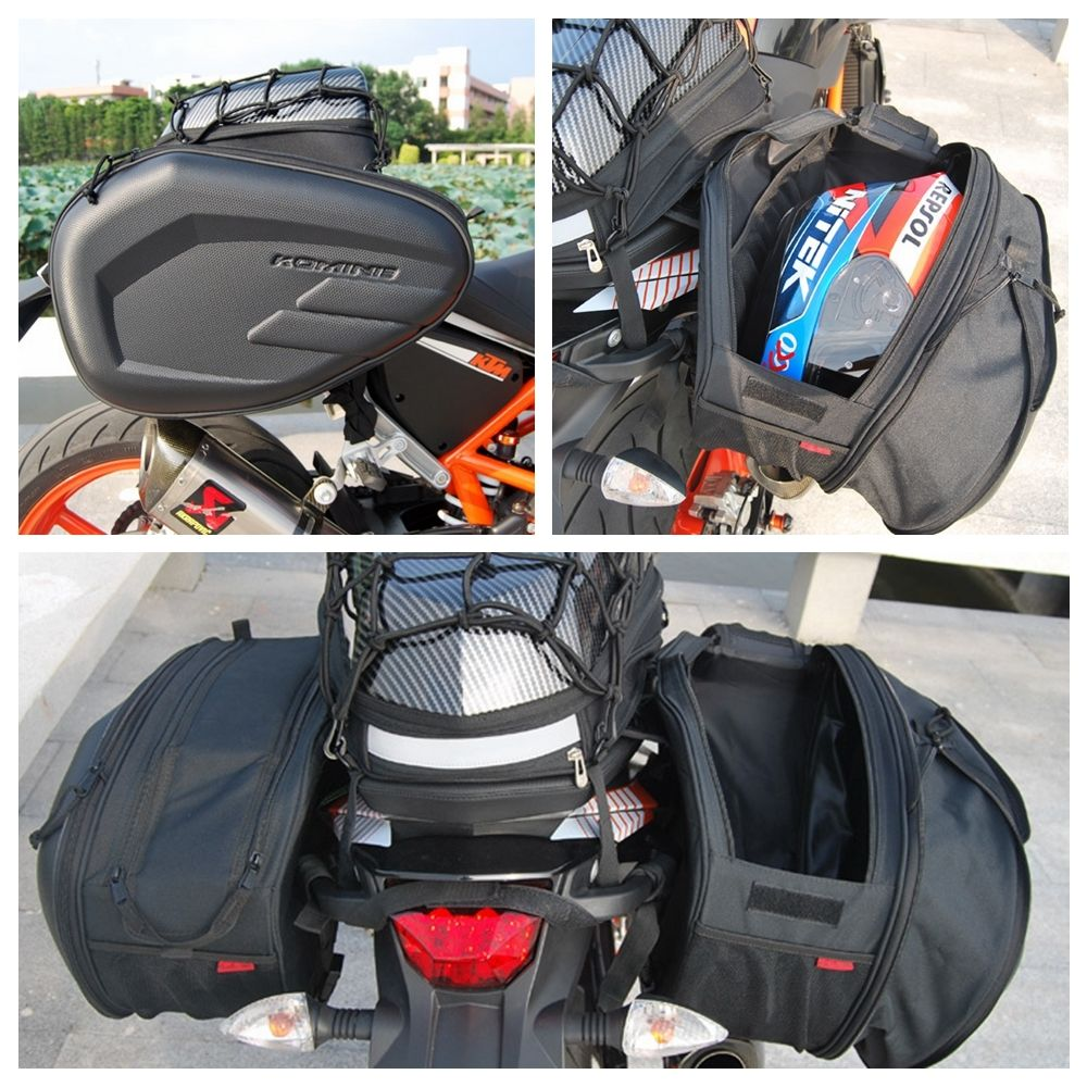 Kominie Bags Universal Fit Motorcycle Luggage Saddle Bags