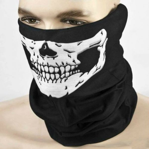 Anti-Pollution Skull Half Face Mask skeleton