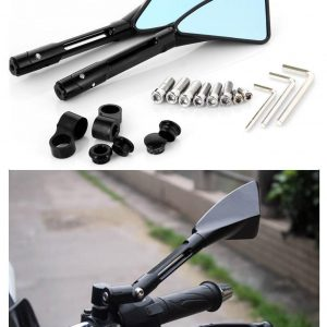 Motorcycle Rear-view Mirror Black Triangle Demon Blade Style