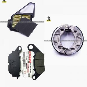 Power Pack 3 YBR-G Air Filter Disk Pad & Brake shoe
