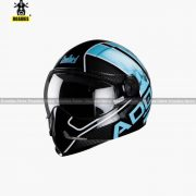 STEELBIRD Adonis Majestic Glossy Black With Sky Blue