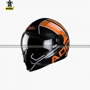 STEELBIRD Adonis Majestic Glossy Black With Orange