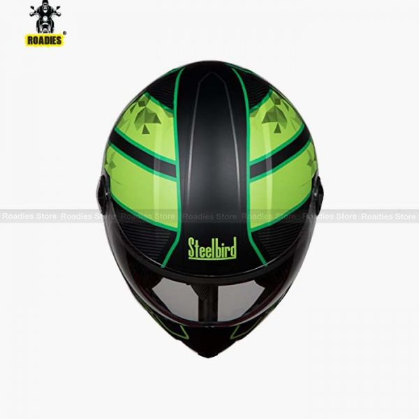 STEELBIRD Adonis Majestic Matt Black With Green