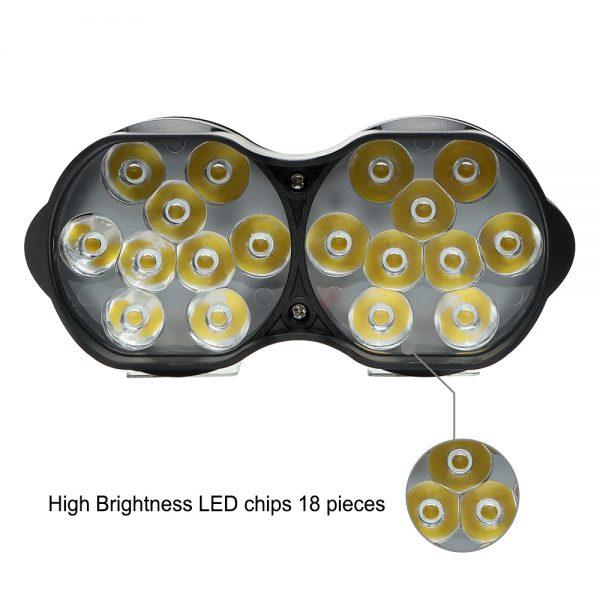 Universal 18 LEDs Lights For Motorbike 30 Watt 3000LM