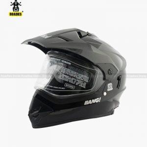 Steelbird Sb-42 Bang Glossy Black Motocross Helmet