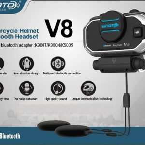 Vimoto V8 Helmet Bluetooth Headset Motorcycle GPS 2 Way Radio