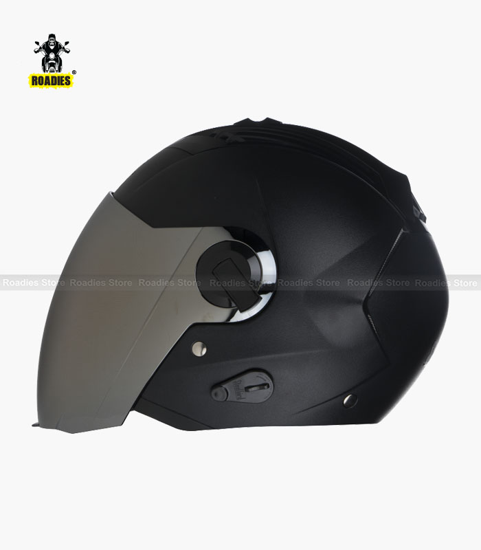 STEELBIRD AIR SBA-3 DASHING BLACK OPEN FACE HELMET