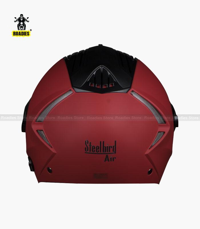 STEELBIRD AIR SBA-3 DASHING RED OPEN FACE HELMET