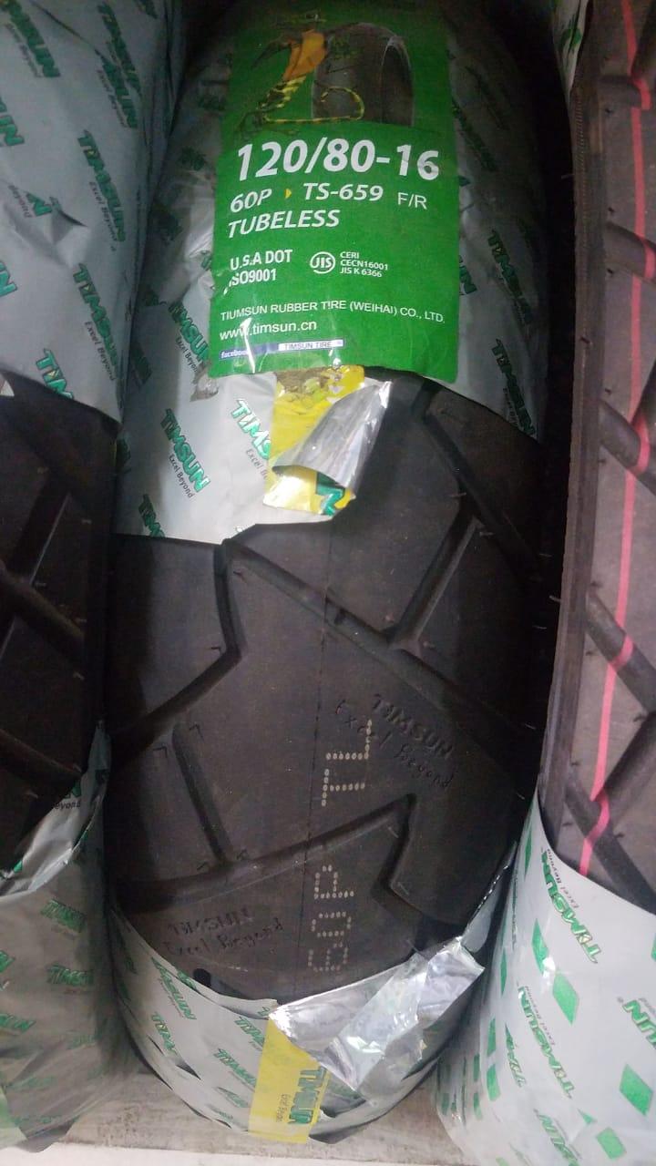 TubeLess Tyre Timsun 120-80-16 TS-659