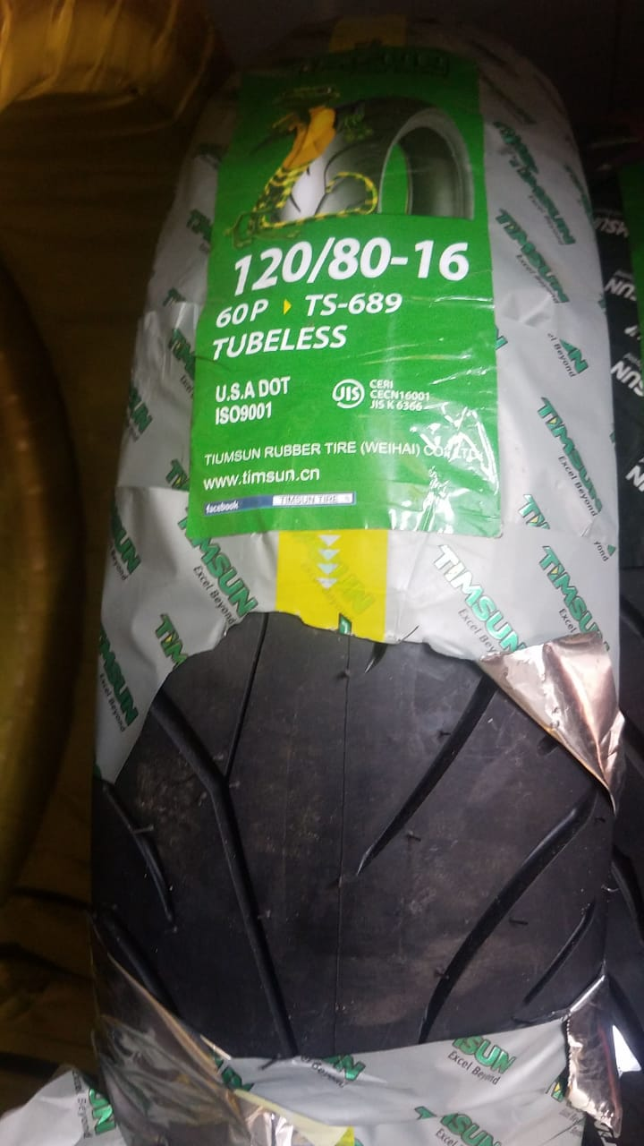 TubeLess Tyre Timsun 120-80-16 TS-689