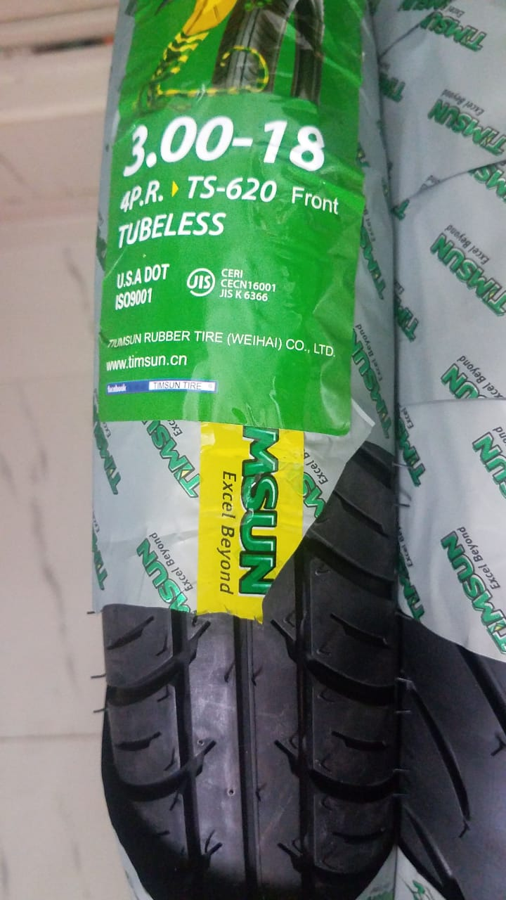 TubeLess Tyre Timsun 3.00-18 TS-620