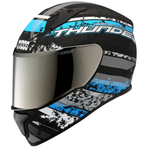 THUNDER D1 MATT BLACK N1 Full Face Helmet