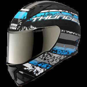 THUNDER D1 MATT BLACK N1 Full Face Helmet