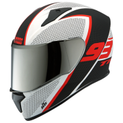 THUNDER D3 MATT WHITE N2 Full Face Helmet