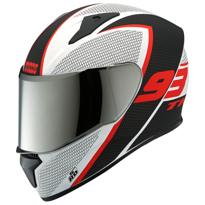 THUNDER D3 MATT WHITE N2 Full Face Helmet