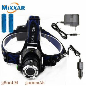 HEAD LAMP With Charger for Camping and Tracking