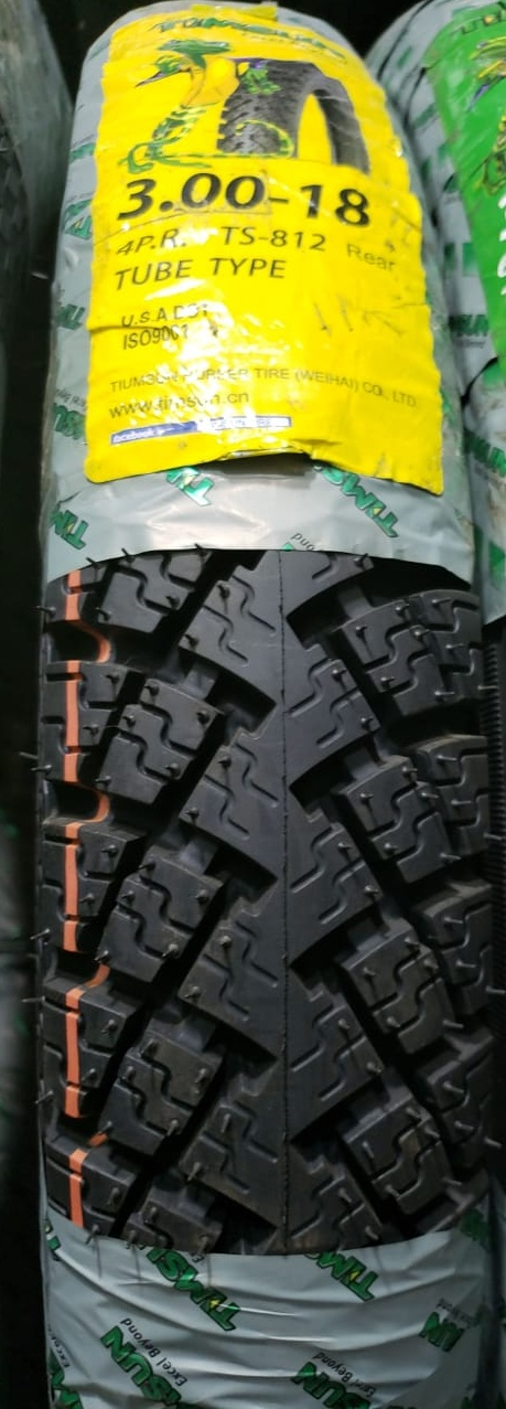 Tube Type Timsun 3.00-18 Tyre TS-812