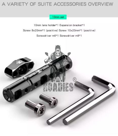 CNC Aluminum Motorcycle Multi-function Extension Rod Mirror Lights Mount Expansion Bracket L2