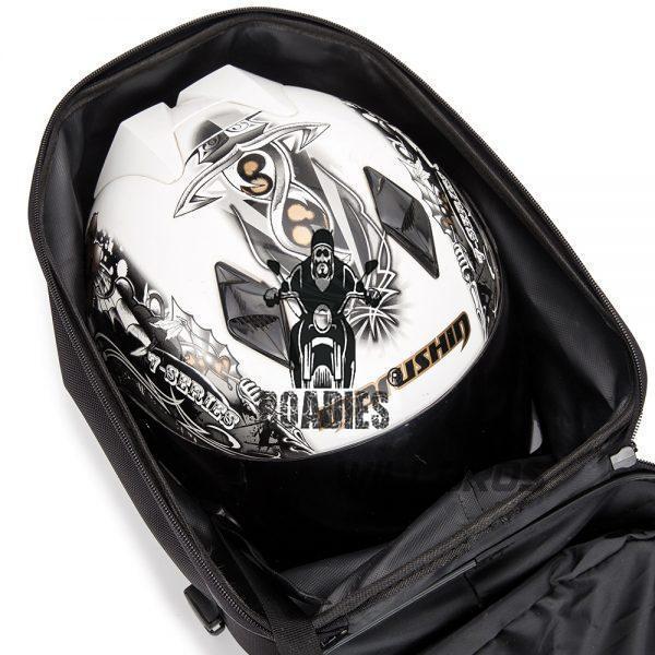Laico Bear | Motocentric Diamond Hardshell Tail bag | Helmet Bag Hard Shell Waterproof Motorbike Rear Bag