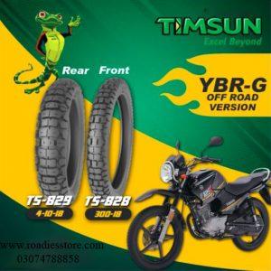 OFF-Road Version Tubeless Timsun Tires Set For YBR-G YBR