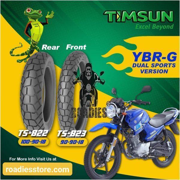 Timsun Tubeless Dual Sports Tires Set For YBR-G / YBR