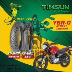 Street Version Tubeless Timsun Tires Set For YBR-G / YBR