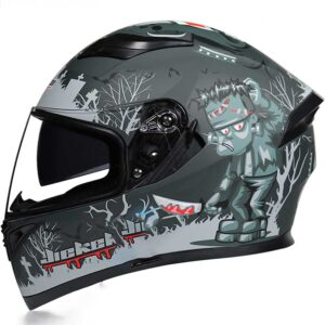 JIEKAI JK-316 SAVAGE Full Face Dual Visor Helmet DOT CERTIFIED