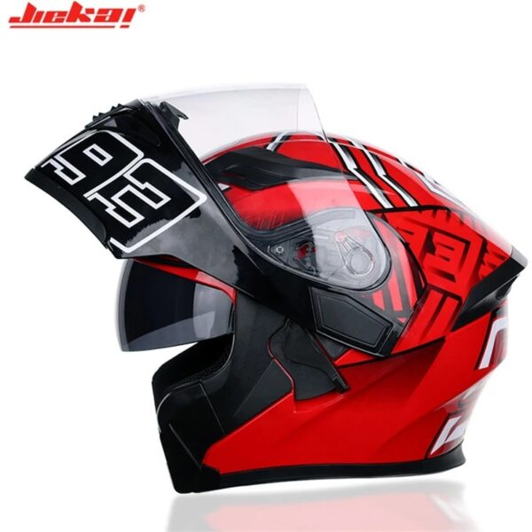JIEKAI JK-902 Q7-93 Uplift Dual Visor Helmet DOT Roadies Pakistan