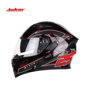 JIEKAI JK-902 Graphics 29 Red Uplift Dual Visor Helmet DOT